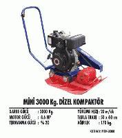 Mini 3000  Kg. Dizel Kompaktör