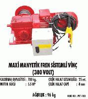 Maxi Manyetik Fren Sistemli Vinç(380 Volt)