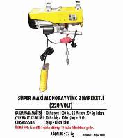 Süper Maxi Monoray Vinç 2 Hareketli (220 Volt)