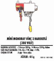 Mini Monoray Vinç 2 Hareketli (380 Volt)