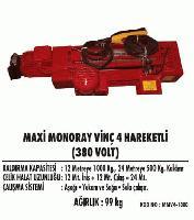 Maxi Monoray Vinç 4 Hareketli (380 Volt)