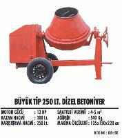 Büyük Tip 250 lt. Dizel Betoniyer