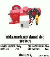Midi Manyetik Fren Sistemli Vinç(380 Volt)