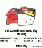 Mini Manyetik Fren Sistemli Vinç(220 Volt)