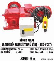 Süper Maxi Manyetik Fren Sistemli Vinç (380 Volt)