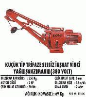 Küçük Tip Sessiz İnşaat Vinci Yağlı Şanzımanlı (380 Volt)