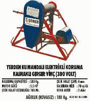 Yerden Kumandalı Elektrikli Koruma Kasnaklı Gırgır Vinç (380 Volt)
