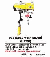 MAxi Monoray Vinç 2 Hareketli (220 Volt)