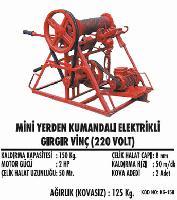 Mini Yerden Kumandalı Elektrikli Gırgır Vinç (220 Volt)