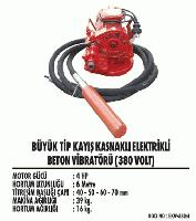 Büyük Tip Kayış Kasnaklı Elektrikli Beton Vibratörü (380 Volt)