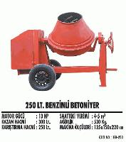 250 lt. Benzinli Betoniyer