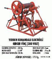 Yerden Kumandalı Elektrikli Gırgır Vinç (380 Volt)