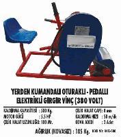 Yerden Kumandalı Oturaklı- Pedallı Elektrikli Gırgır Vinç (380 Volt)