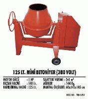 125 lt. Mini Betoniyer (380 Volt)