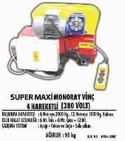 Süper Maxi Monoray Vinç 4 Kareketli (380 Volt)